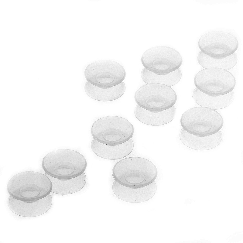 10 x Air suction cup Double sided silicone for Aquarium fish H7H6