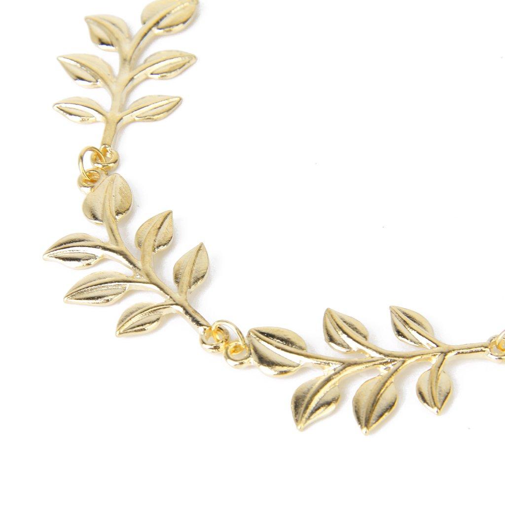 Сменные насадки для электрических зубных щеток Золотая металлическая элегантная оливковая форма листьев головного уплотнения (Фото 1)