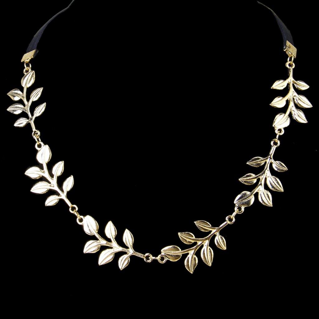 Сменные насадки для электрических зубных щеток Золотая металлическая элегантная оливковая форма листьев головного уплотнения (Фото 2)