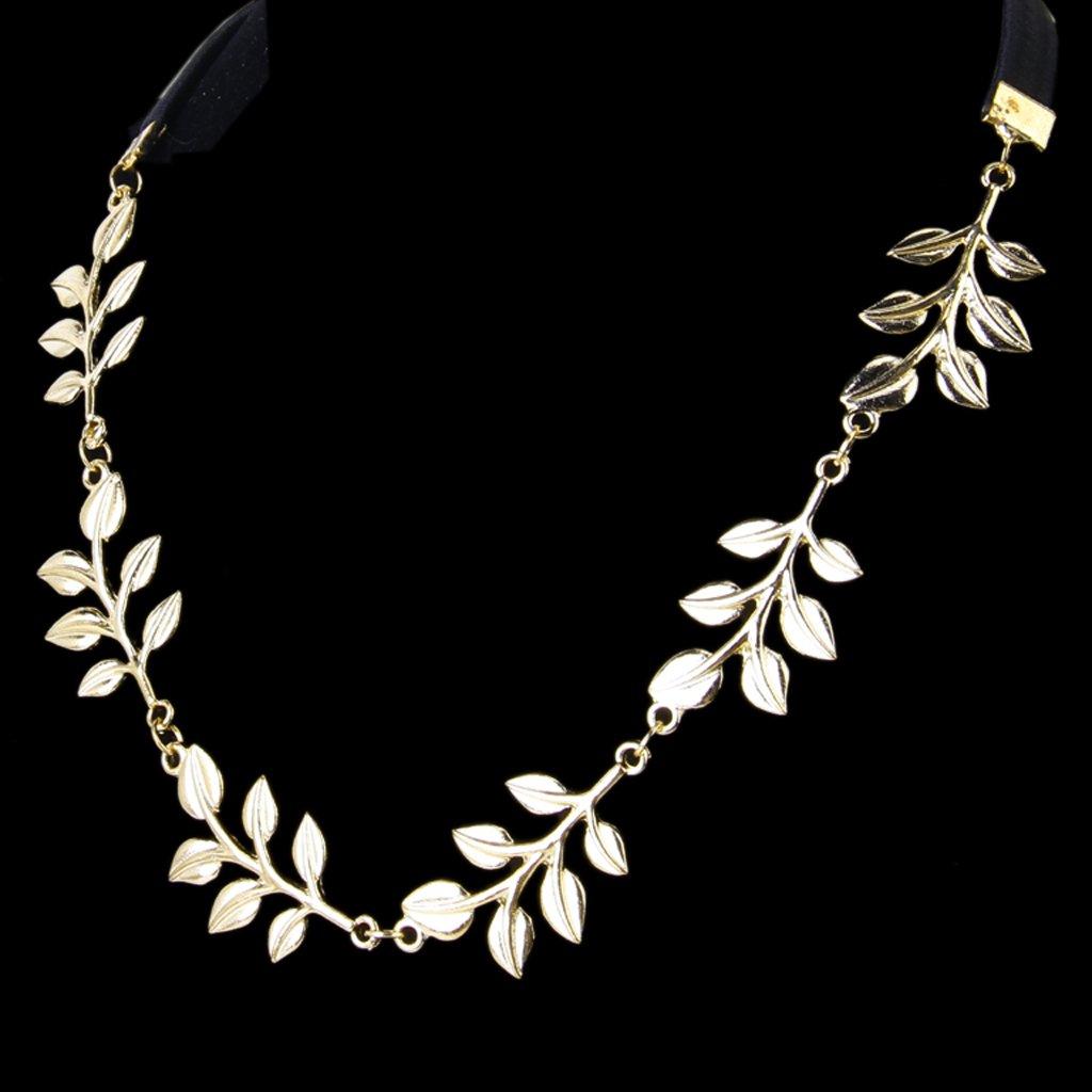 Сменные насадки для электрических зубных щеток Золотая металлическая элегантная оливковая форма листьев головного уплотнения (Фото 3)