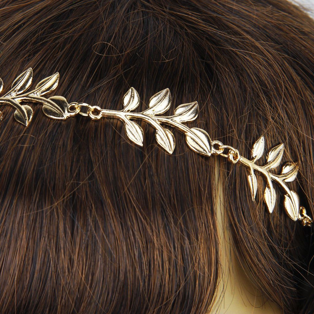 Сменные насадки для электрических зубных щеток Золотая металлическая элегантная оливковая форма листьев головного уплотнения (Фото 6)