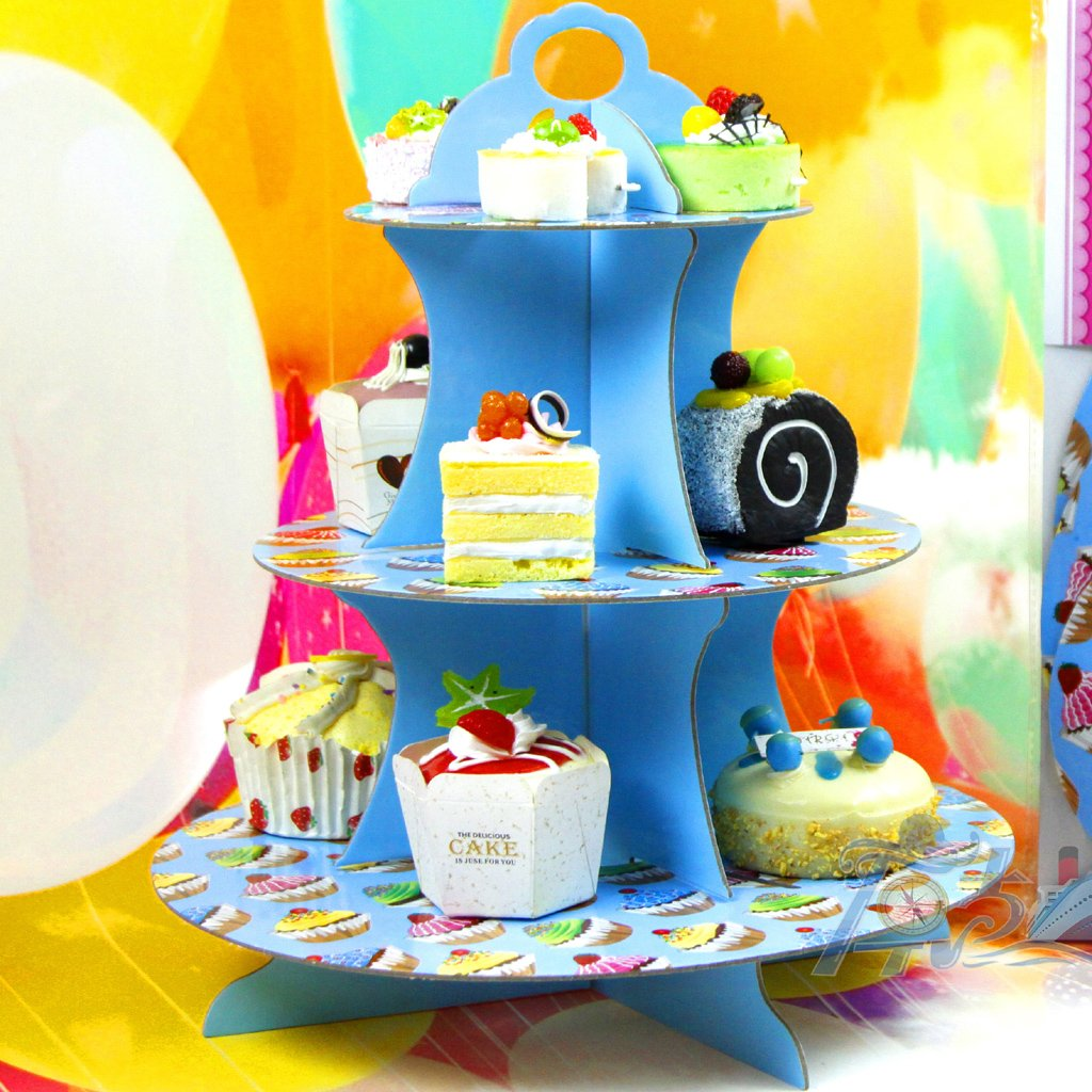 Decor Cake Holder : 10x(3 tier cake muffin cake stand holder Paper Birthday ...