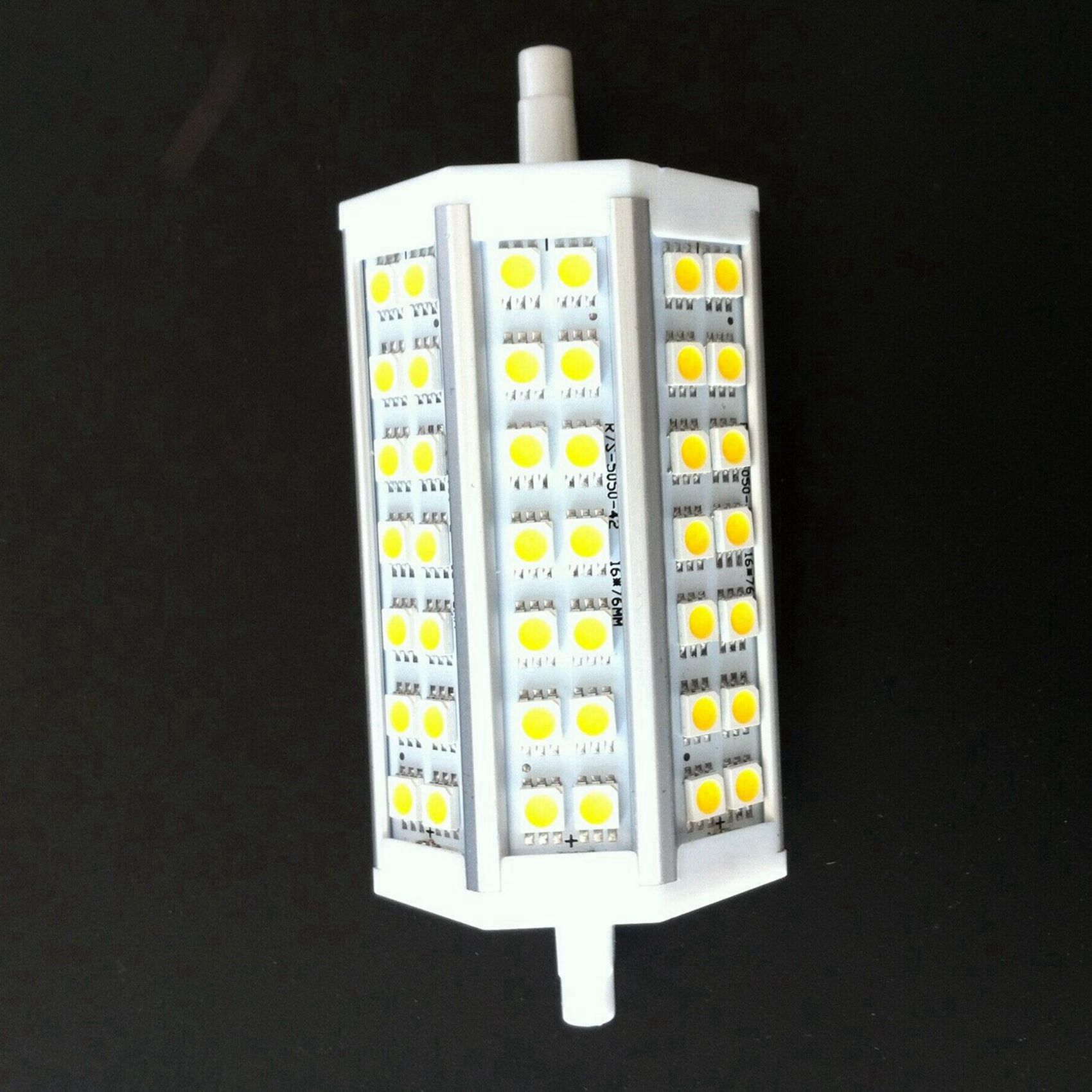 r7s 118mm 42 smd5050 led lampe birne spot dimmbar. Black Bedroom Furniture Sets. Home Design Ideas