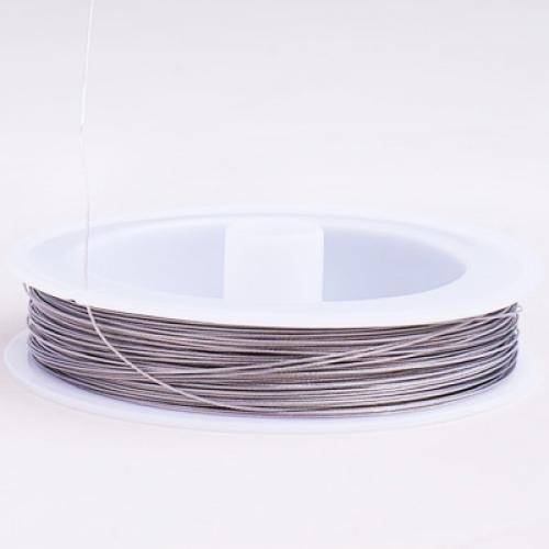 80 m//0.45mm// Argent C3Y1 Tiger Tail Beading Wire Craft Wire