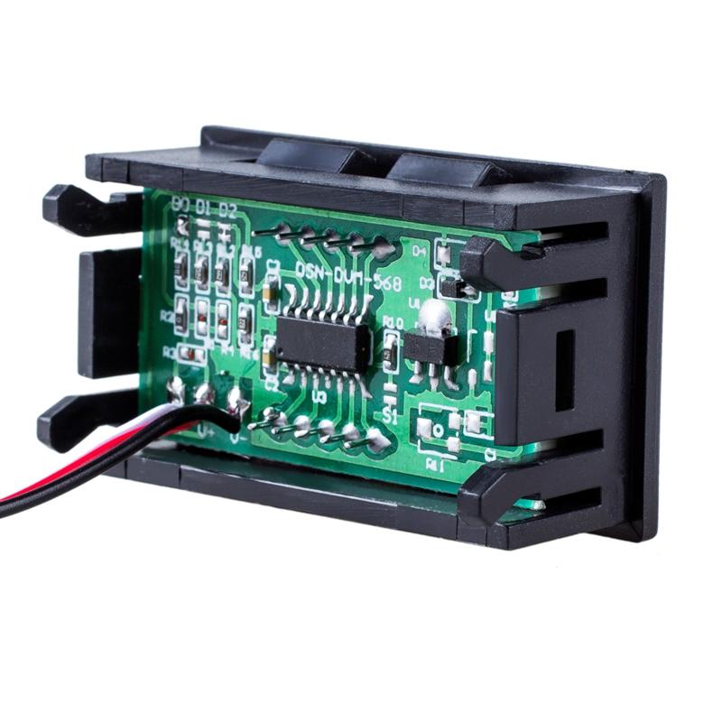 Mini voltmeter tester Digital voltage test battery DC 0-30V red auto ...