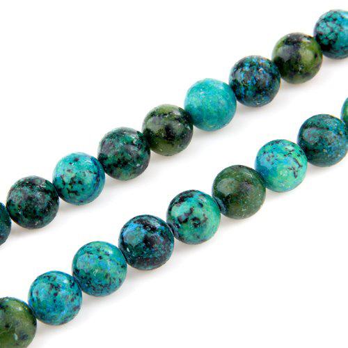 10mm Kugel Chrysokoll Perlen Bead Strang Halbedelstein N8N2