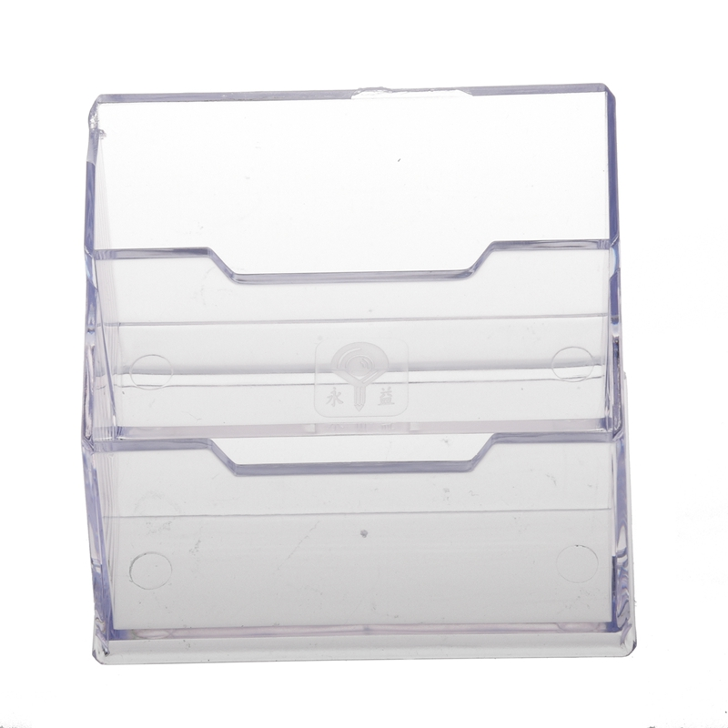 Desktop Business Card Holder Display Stand 2 compartments K5O3 ...