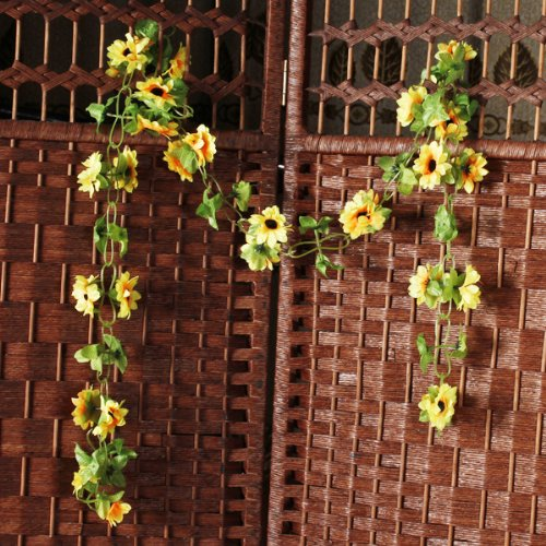 Kuenstlich sonnenblume girlande blume weinstock fr zuhause for Dekor im garten