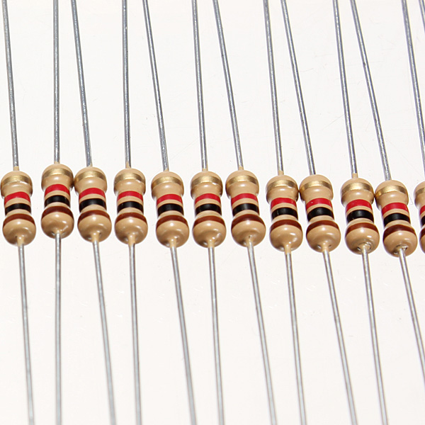100 PCS 1/4W 0.25W 5% 1 K OHM Carbon Film Resistor 1st Class Postage UK S1S3