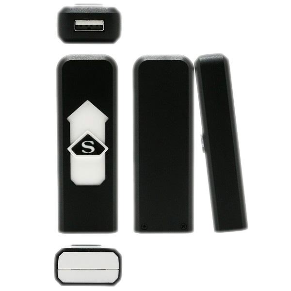 USB Encendedor Electronico de Cigarros Recargable Portatil Sin Llama - Negro VM