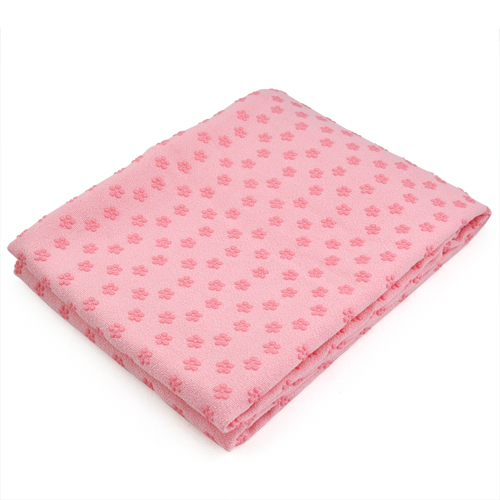 Yoga Towel Uk: Yoga Towel Mat Non Slip Blanket With Silicone Plate & Bag