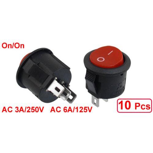 10pzs-SPDT-Negro-Rojo-Boton-Encendido-Encendido-Interruptor-basculante-RedT8U5