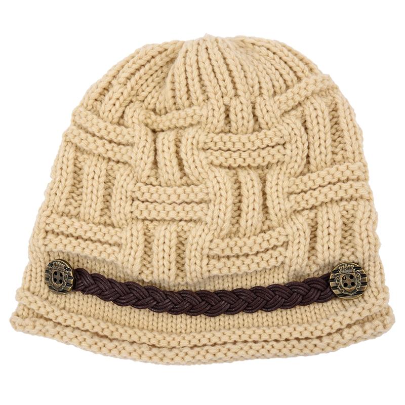 Gorro ganchillo punto chical invierno calido Sombrero boina mujer ...