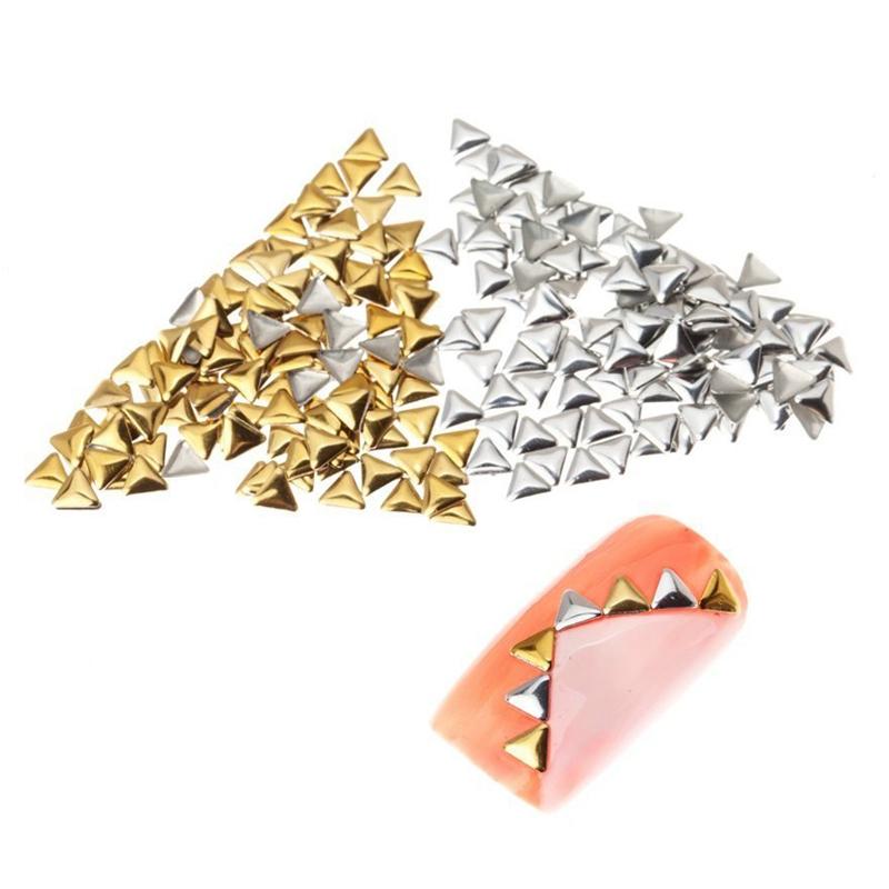 Paquete de 250 pernos 3D Triangulos Metal 3mm Color de plata ...