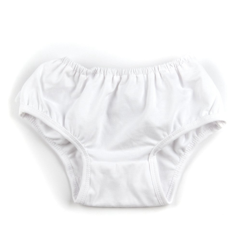 White Baby Girl Ruffle Bloomers Panties Diaper Cover Image S W4Q5
