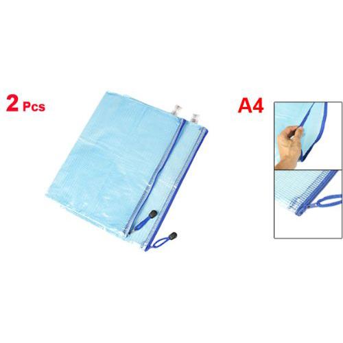 Bolsa-archivos-documento-papel-A4-cierre-cremallera-plastico-suave-azul-2pieE8M7