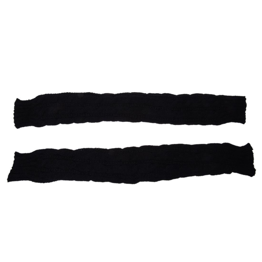 Guantes sin dedos de lana de tejer de patron calentadores brazo de ...