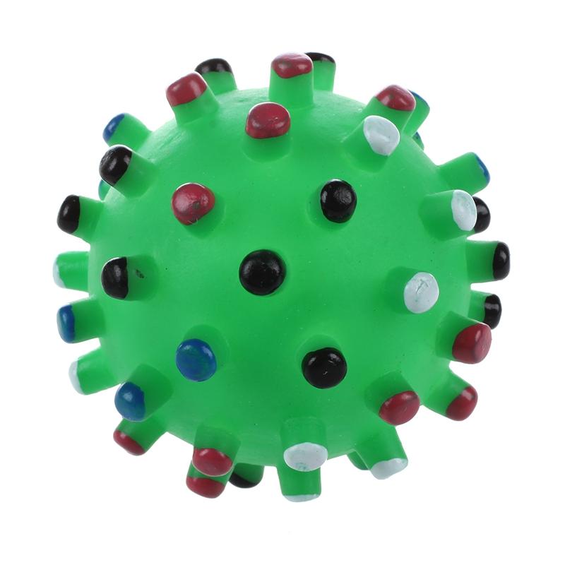 1X(Bola verde Mastica Juguete jugar divertido sonido cuac chirriador chirriY5Z2)