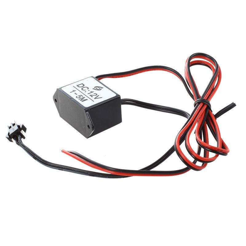 red-black cable DC 12V EL wire neon glow strip light driver unit ...