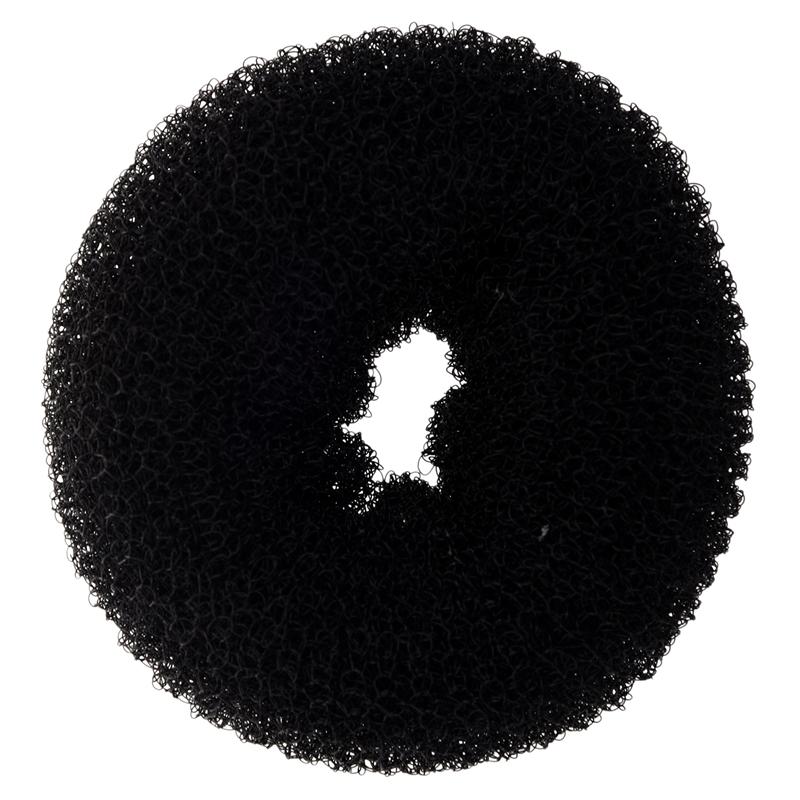 10X BLACK BUN HAIR FORMER DONUT DOUGHNUT SHAPER RING STYLER HAIRDRESSING Dia X8