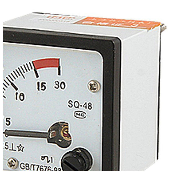 SQ48 Analog AC Current Panel Meter Amperemeter 0-15A Gauge Weiss+Schwarz