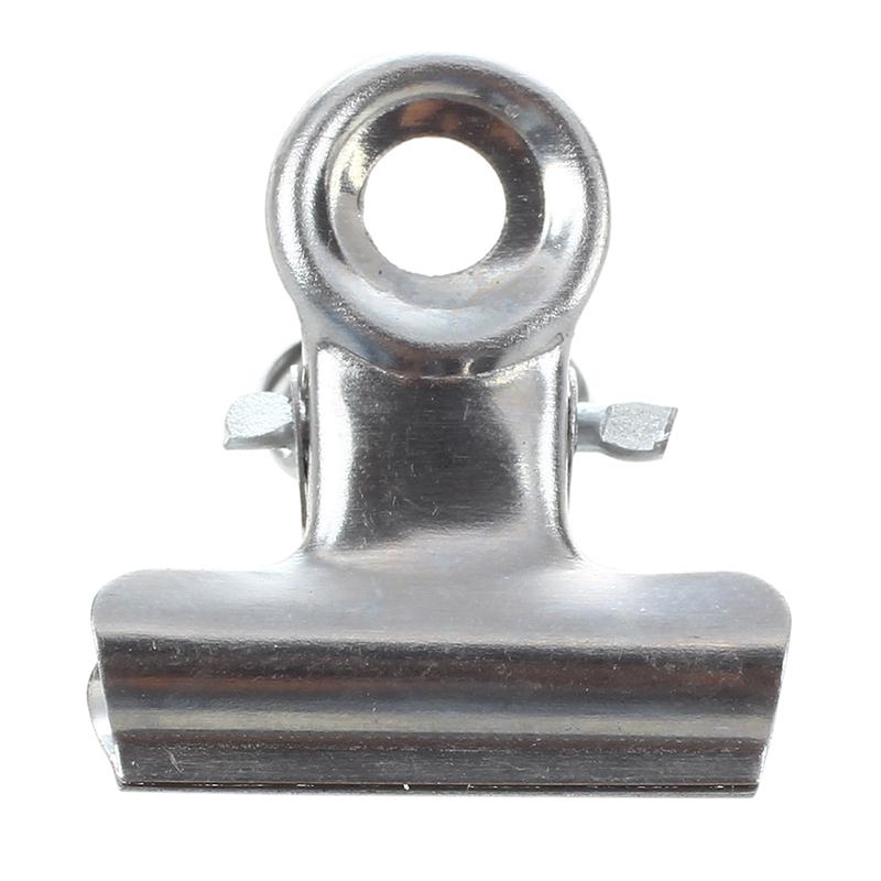 SODIAL 12 Stueck 20mm Metall Silber Bueropapier Bueroklammer Clips  M6T4 R