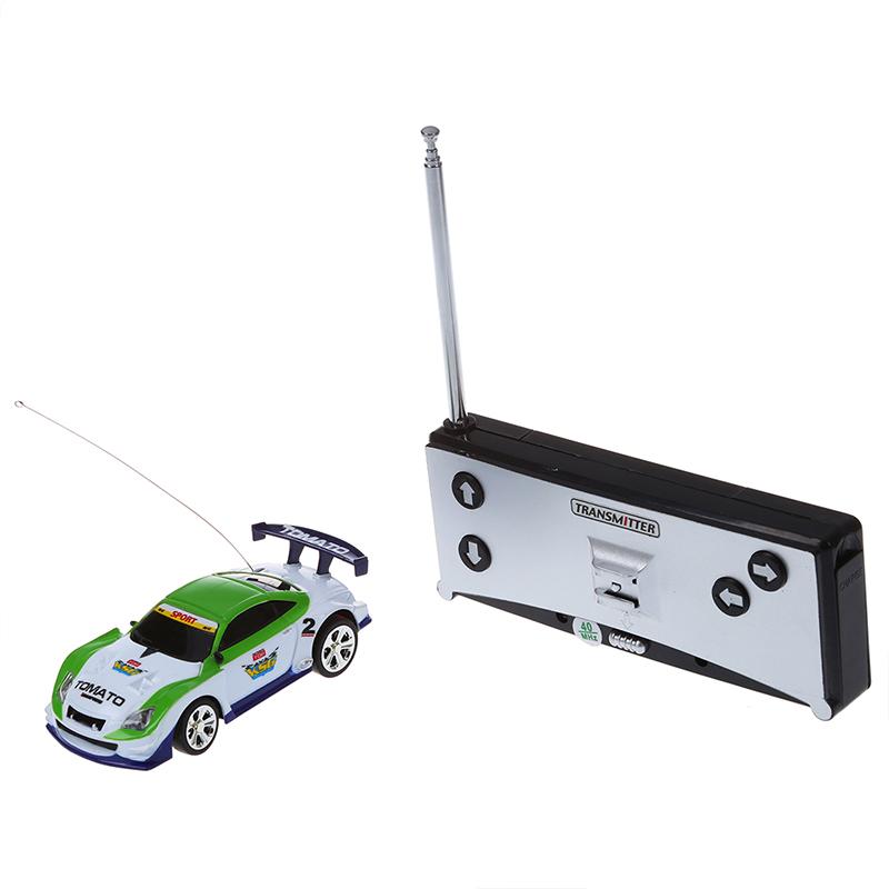 5X Mini Auto Cola Dose RC Fernbedienung Spielzeug Auto RC Fernradio - Weiss & QP Elektrisches Spielzeug