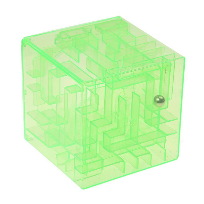 Plastic Cubic Money Maze Bank Saving Coin Collection Case Box 3D Puzzle Gr U9S6