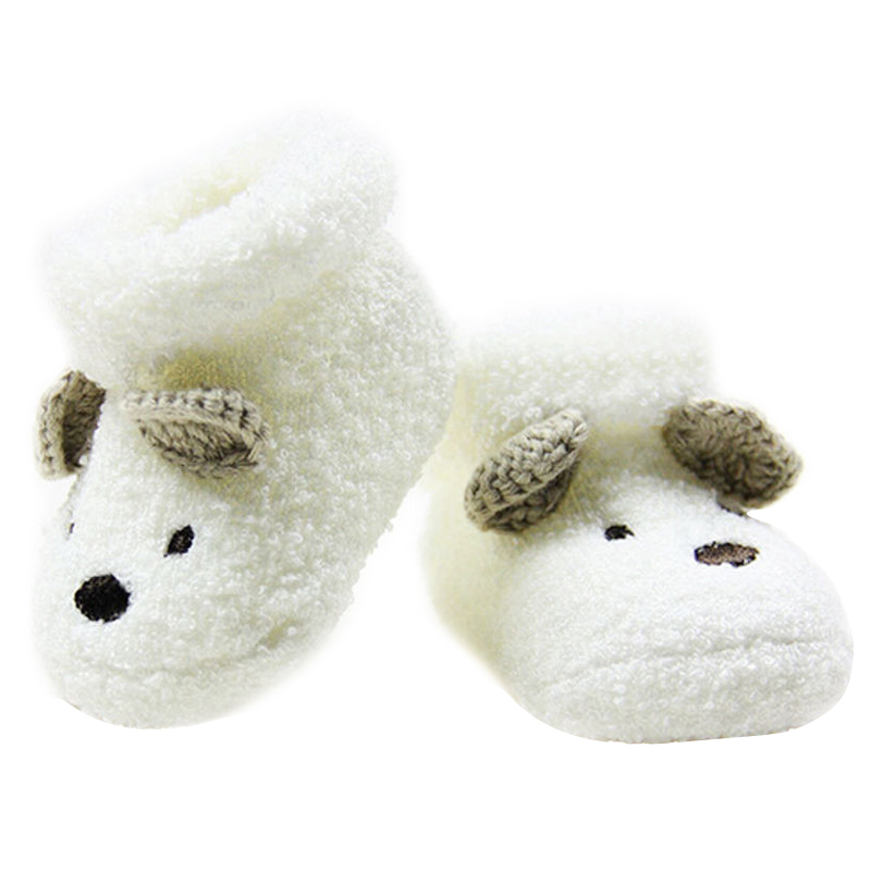 Warm born Socks Unisex Baby Boy Girls Infant Cute Bear Crib Warm Shoes AU A2D9