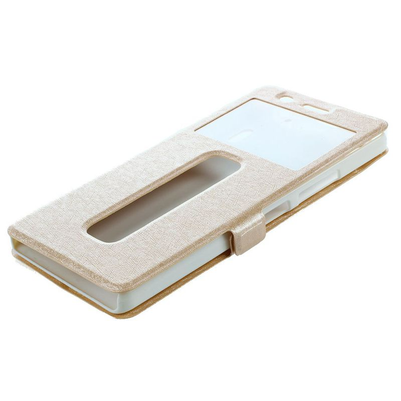 Image is loading Slim-Stand-Window-Leather-Flip-Case-Cover