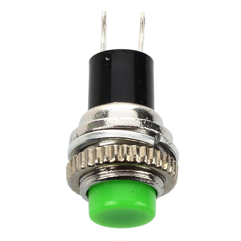 2X(10 pcs Momentary SPST NO vert Casquette ronde Commutateur de bouton pousB8U3)