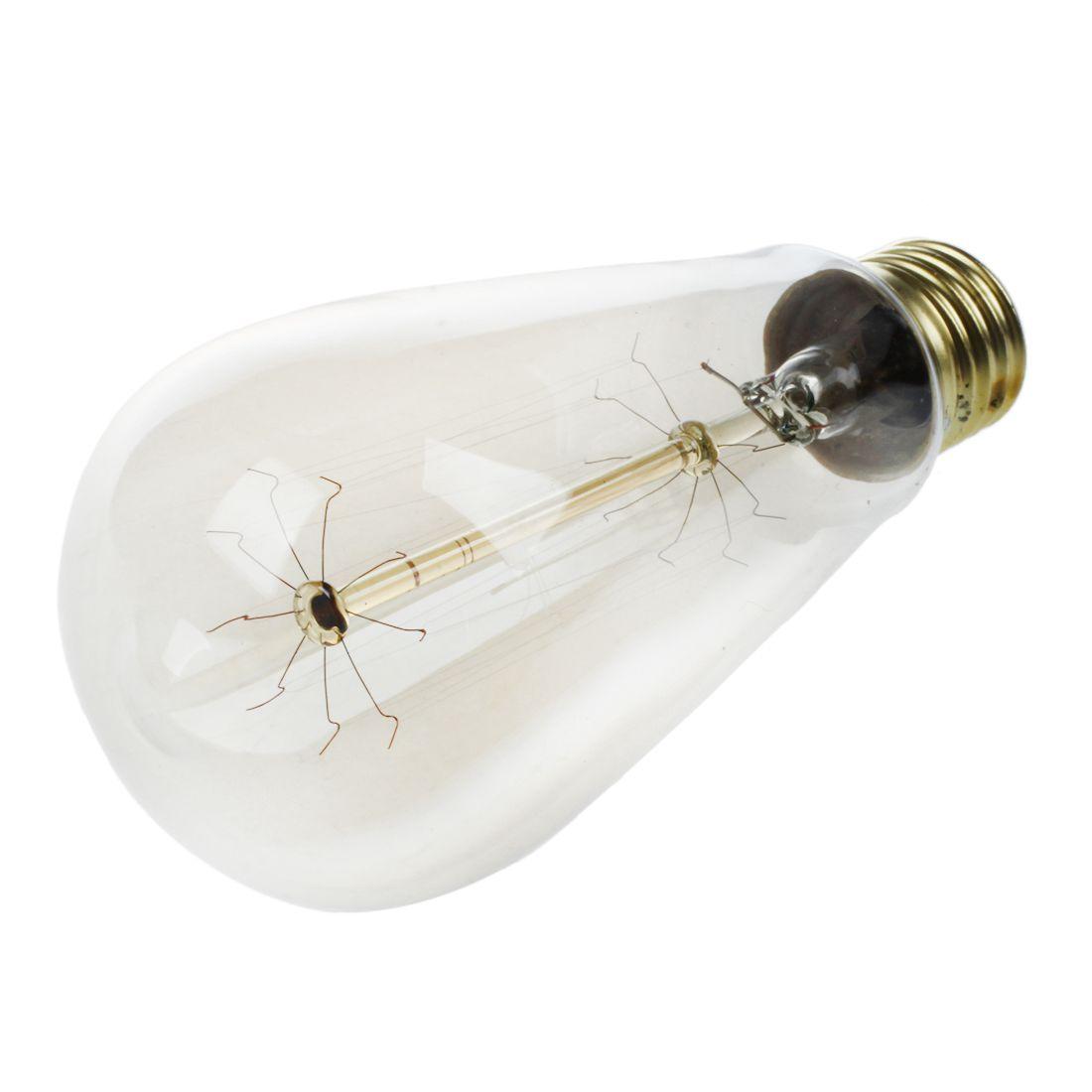 E27 40w Vintage Retro Filament Edison Tungsten Light Bulb: E27 40W Vintage Retro Filament Tungsten Light Bulb T64