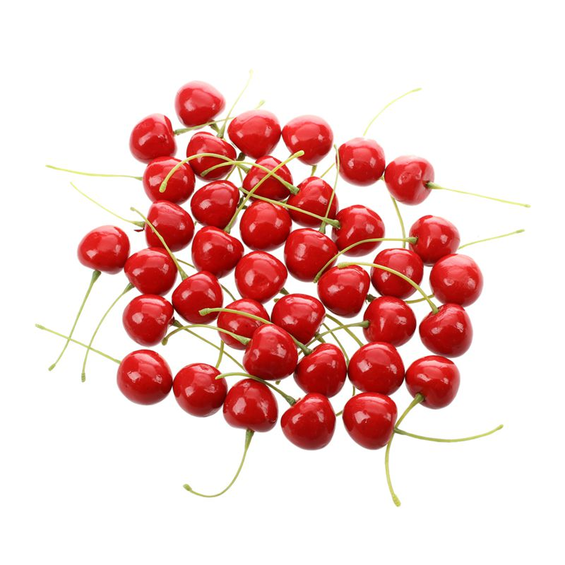 36pcs-Cerezas-Artificial-en-caja-de-PVC-2-5cm-Rojo-Z7V7