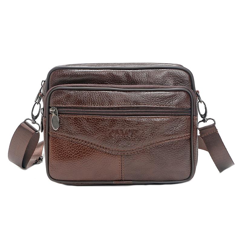FONMOR Messenger Bags Men Vintage Travel Small Crossbody Shoulder ...