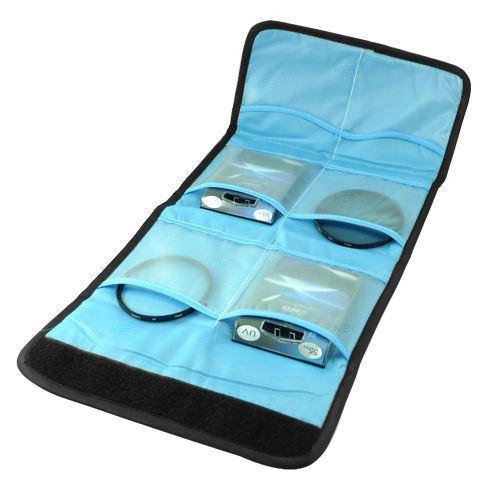 Filtertasche Etui fuer 6 Filter fuer NIKON  Kamera UV CPL FLD 52mm 55mm 58m V3J6