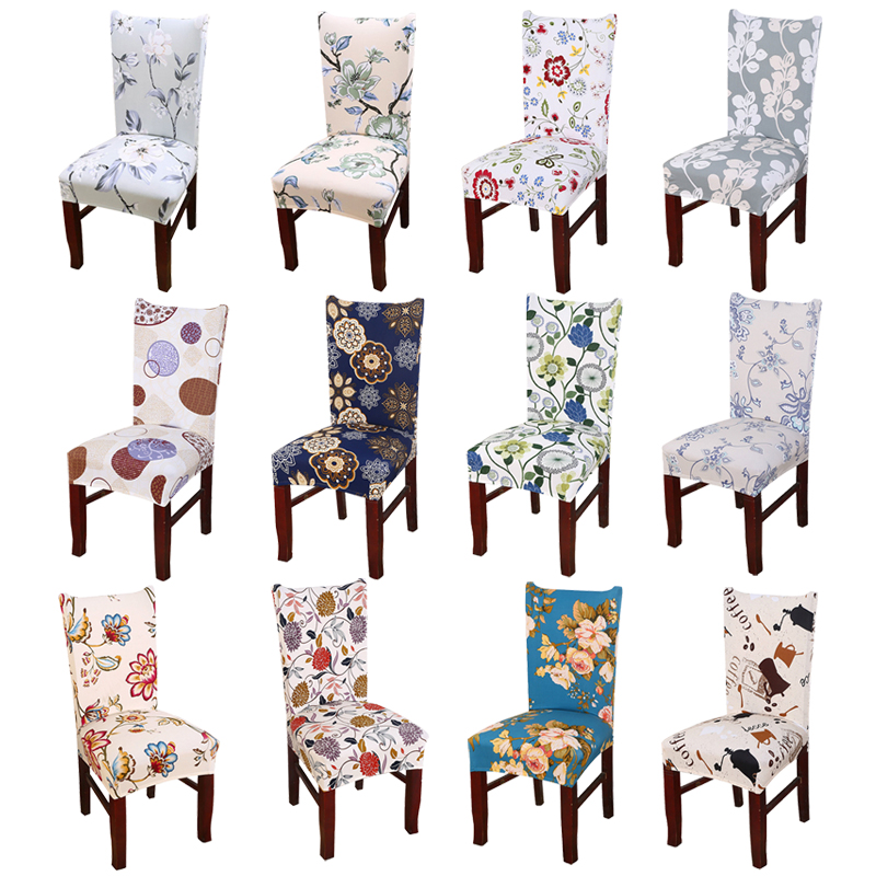 Image Is Loading Removable Elastic Stretch Slipcovers Short Dining Room Chair