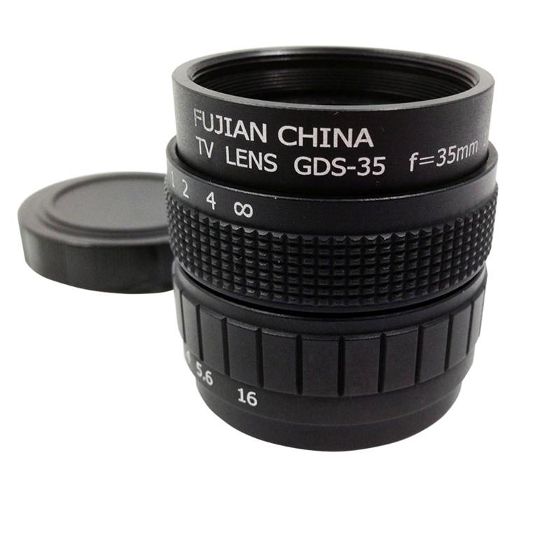 2X(Television TV Lens/CCTV Lens for C Mount Camera 35mm F1.7 in Black H6I9)