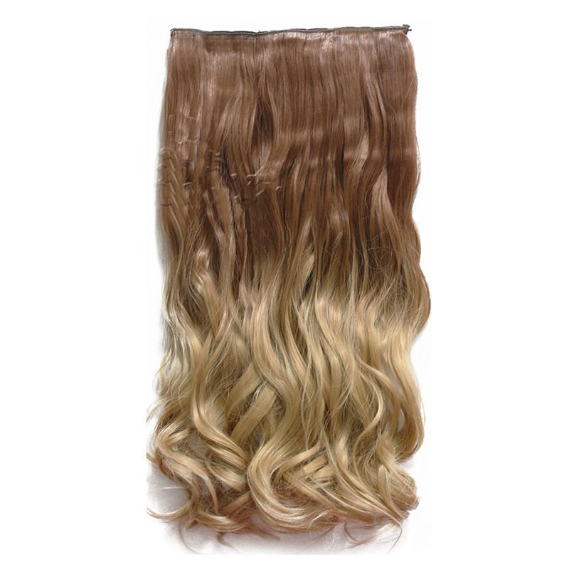 24 Ombre Color Clip In Hair Extensions One Piece Long Wavy Curly