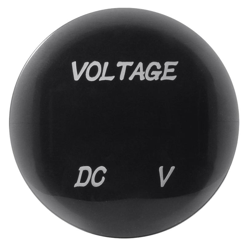 12V-24V Dc Voltmeter Auto Monitor Motorrad Led Rot Wasserdicht Voltmeter L4H7