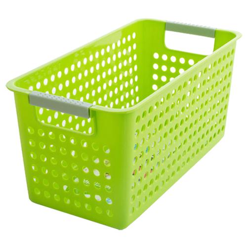 Japanese-style-Stackable-Plastic-Storage-Baskets-Bins-Organizer-Fruit-Toys-N5K7