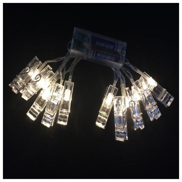 1 2m 10led clip lichterketten batterie weihnachtsbeleuchtung party hochzeit t8y3 ebay - Weihnachtsbeleuchtung batterie ...