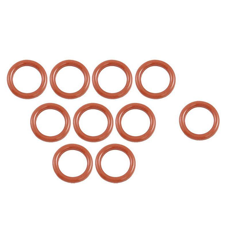 5X 10 Pcs 16mm OD 2.5mm Thickness Silicone O Ring Oil Seals Gaskets Dark Re F5U7
