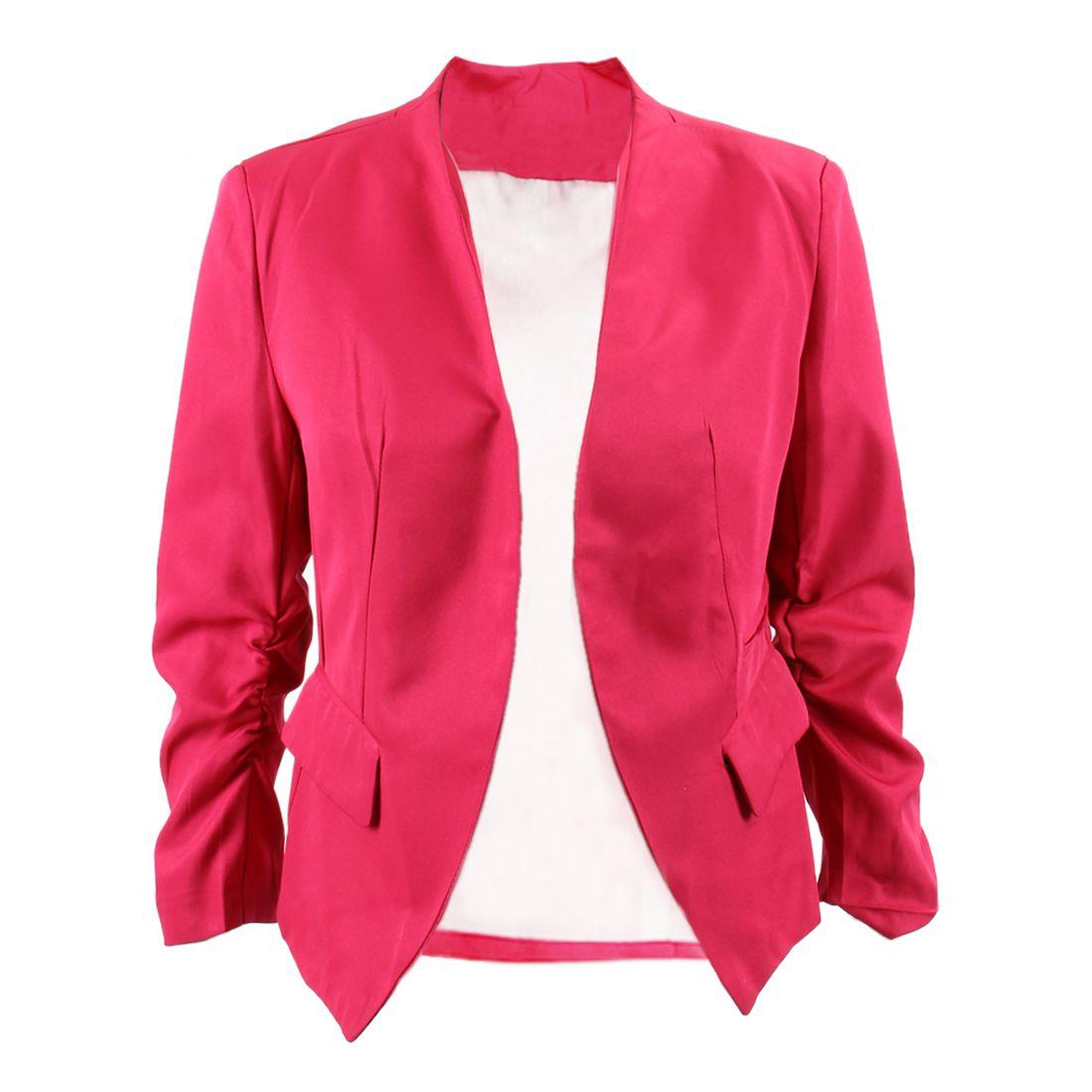 5X-SR-Solid-3-4-Sleeve-Pockets-None-Button-Slim-Short-Suit-Black-S