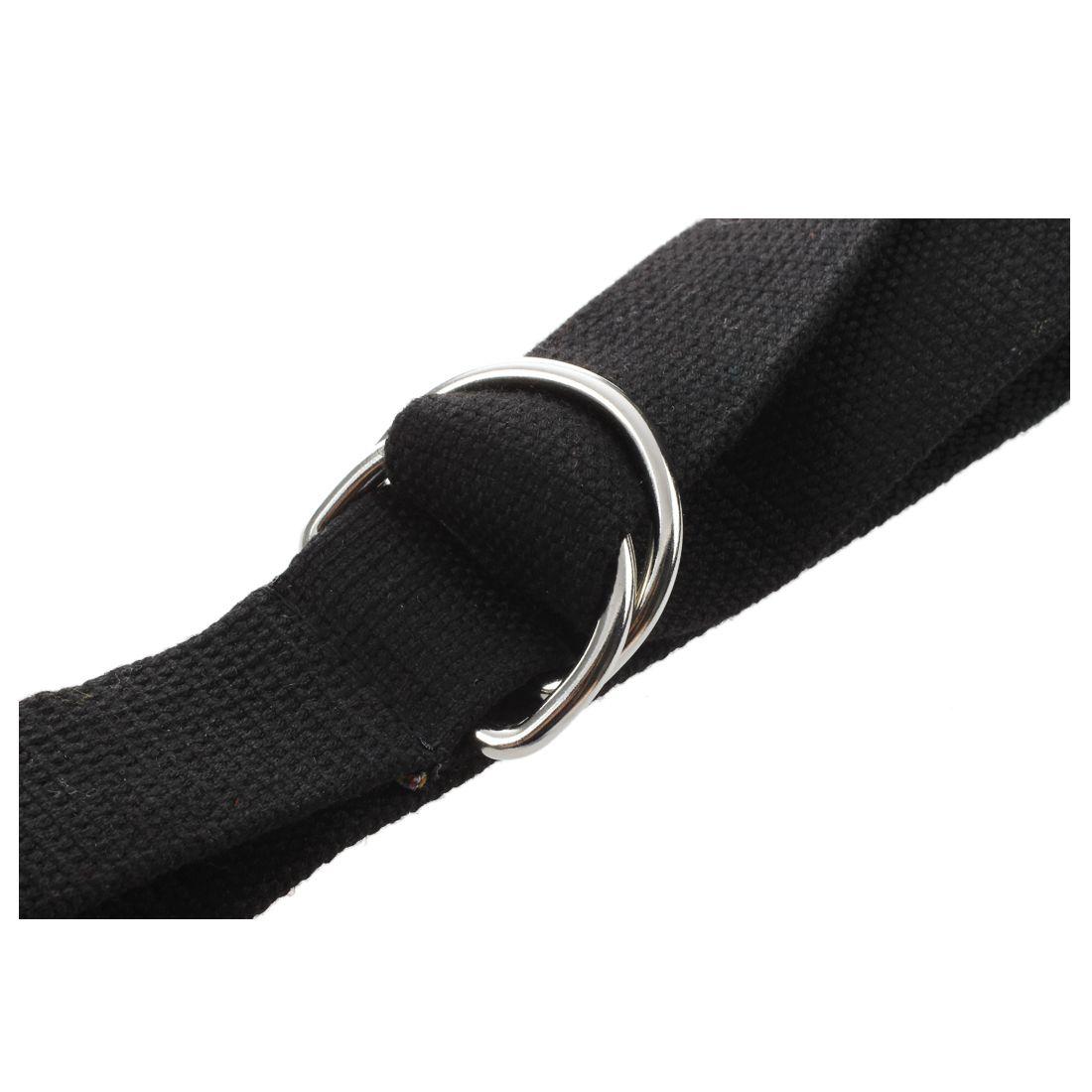 Women-Men-Double-Rings-Waist-Belts-Buckle-Canvas-Waistband-Strap-Casual-Bel-H6E5