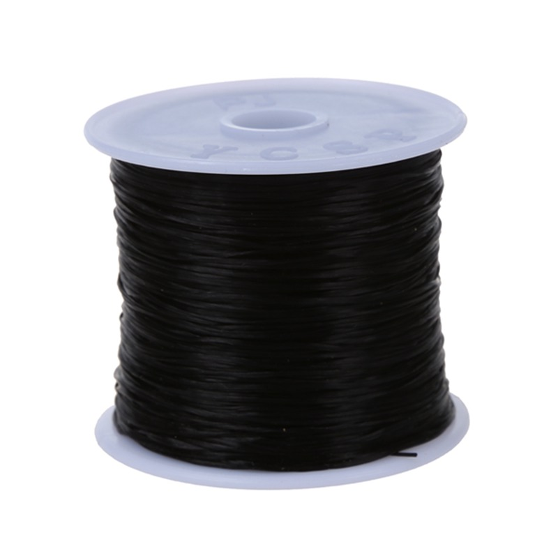60m Stretchy Elastic Crystal String Cord Thread For Jewelry Making Black M5L ZC