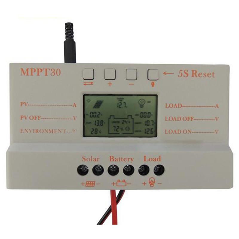 2X(30A MPPT Solar Panel Regulator Charge Controller 12 24V 380 760W With L V3L5)