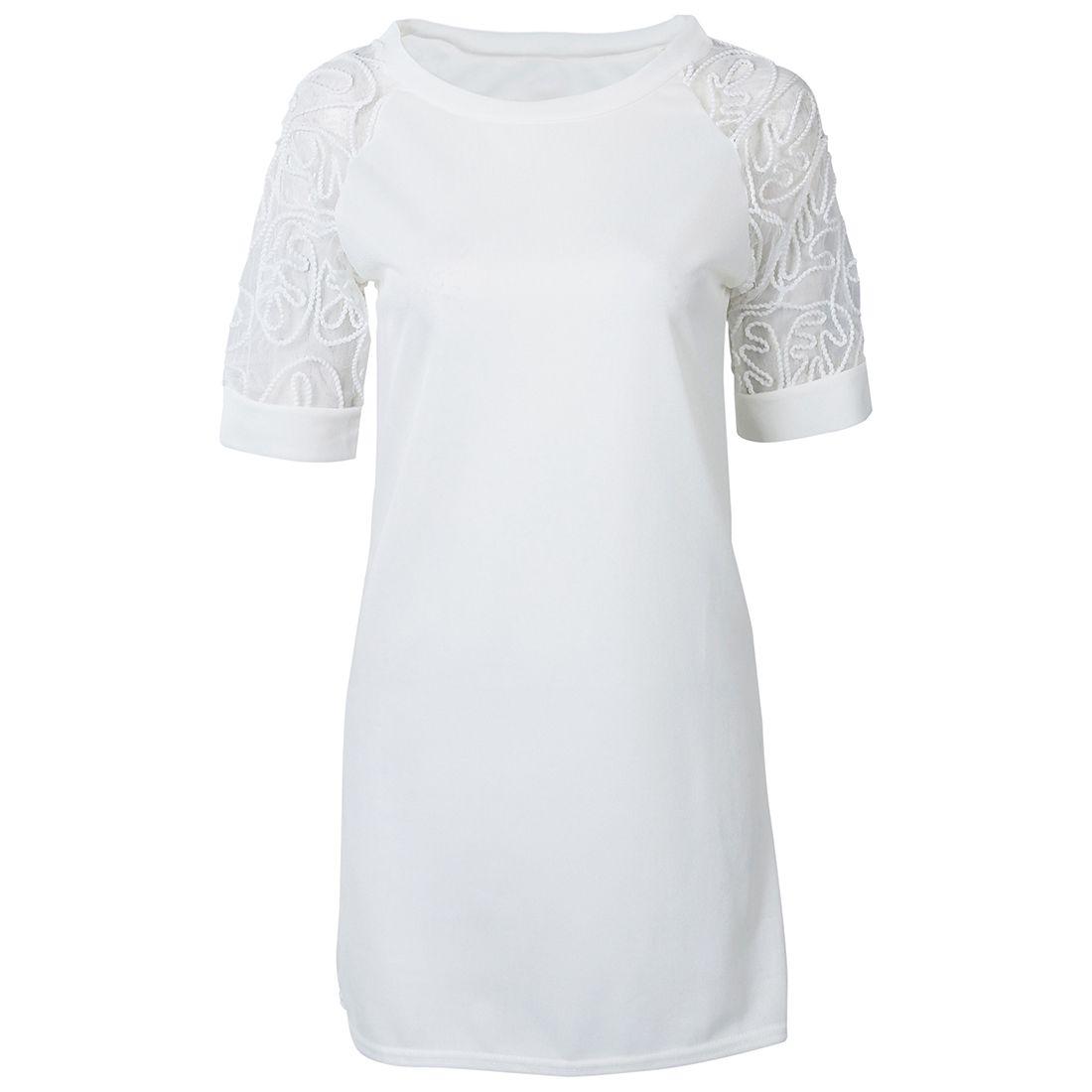 Lace-dress-women-summer-dress-short-sleeve-Dress-Light-green-S-X9M2