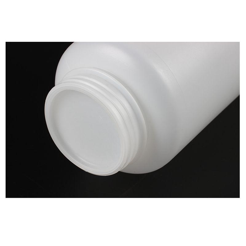 blanc bouteille de stockage en plastique gradue capacite chimique de labO4H4 5X