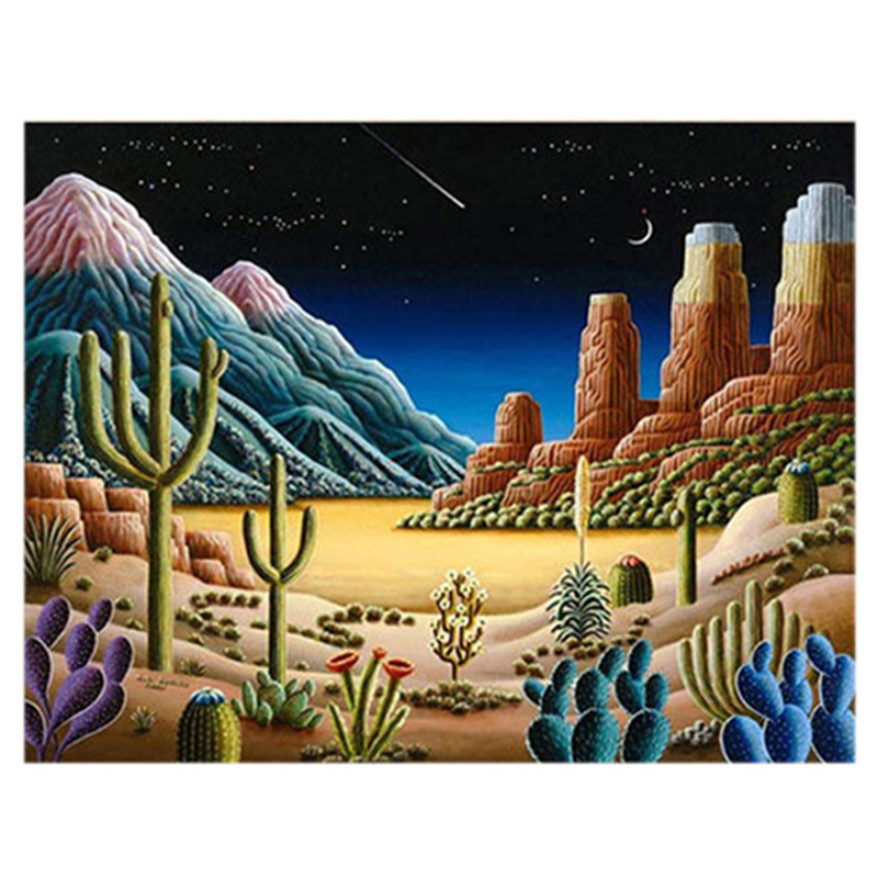 Image Is Loading 5D Diamond Desert Cactus Painting Embroidery Cross Stitch