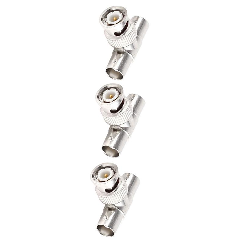 5pcs-Forma-de-T-3-way-conector-BNC-macho-a-doble-hembra-conector-Coaxial-RF-D2P5